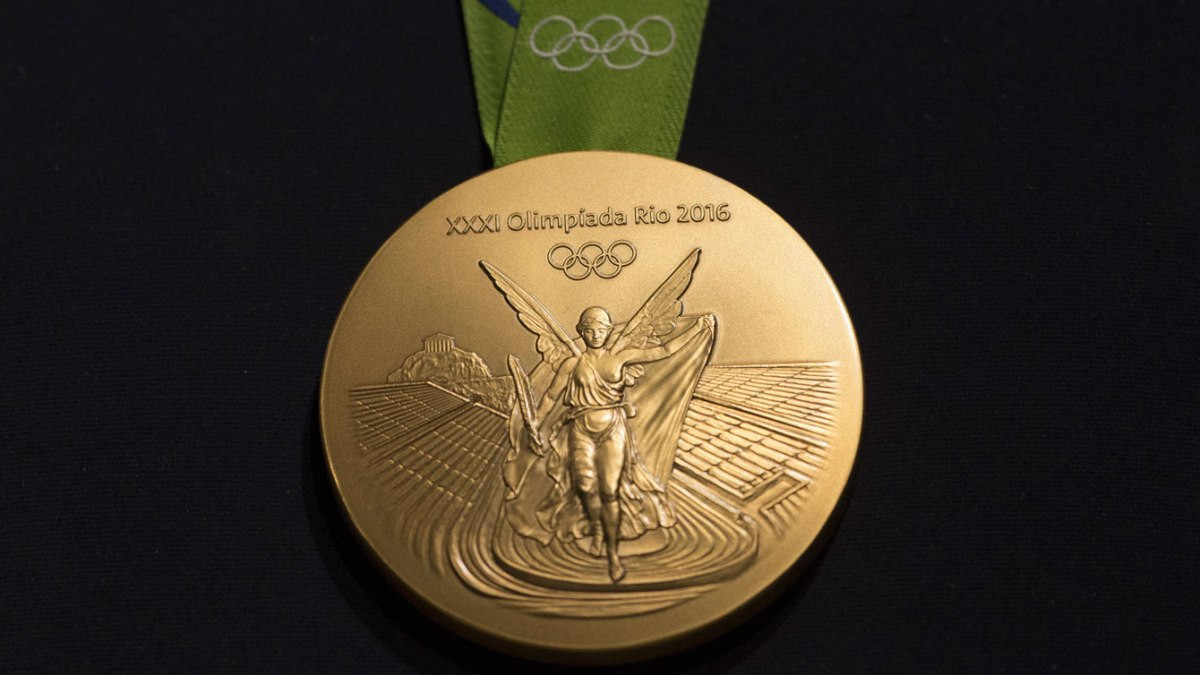 What is believed to have been the first Olympic gold medal from Rio 2016 has been sold for more than $50,000 - although who put it up for auction remains a mystery ©Rio 2016