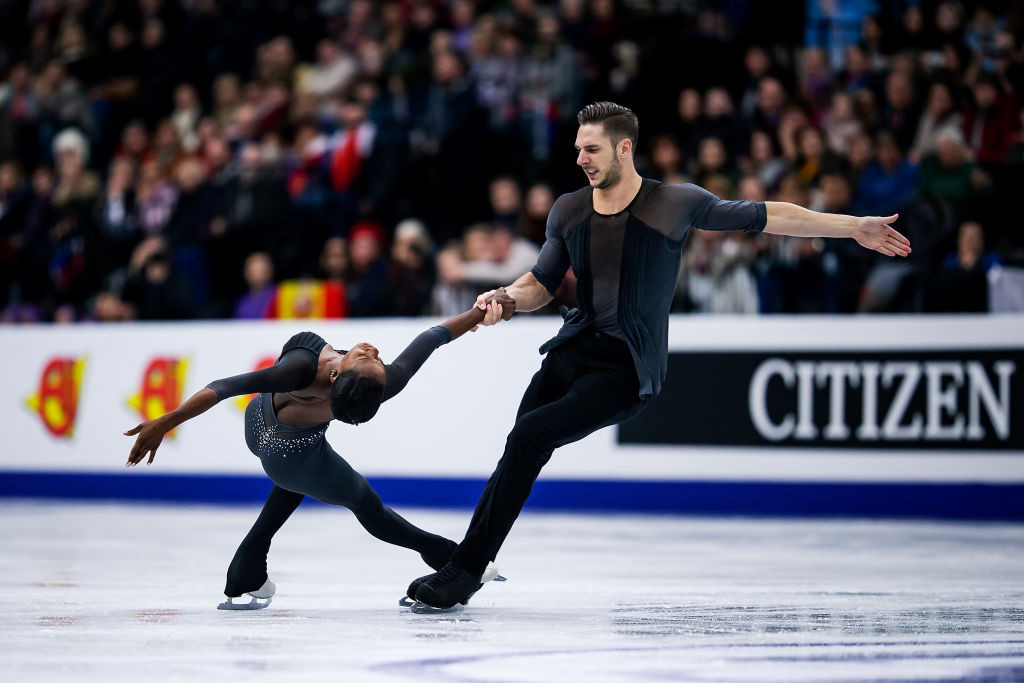 France's James and Cipres win pairs event at ISU European Figure Skating Championships