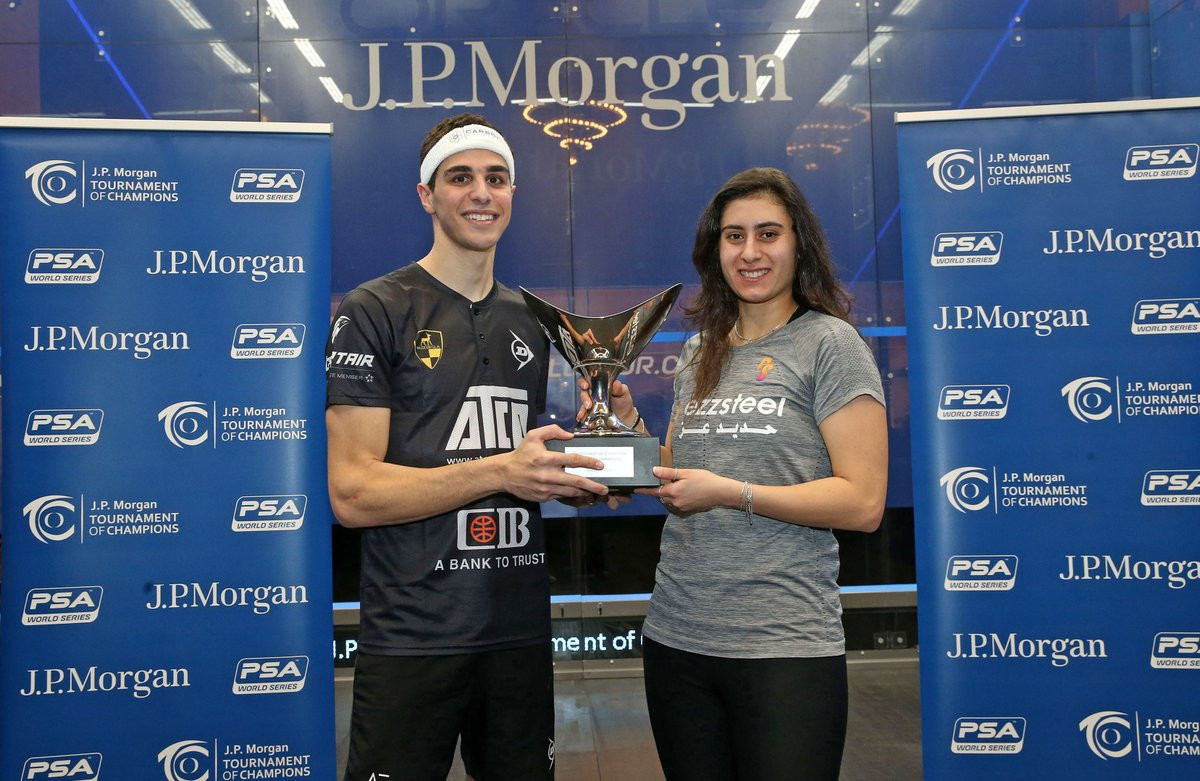 Farag and El Sherbini defeat world number ones to win PSA Tournament of Champions
