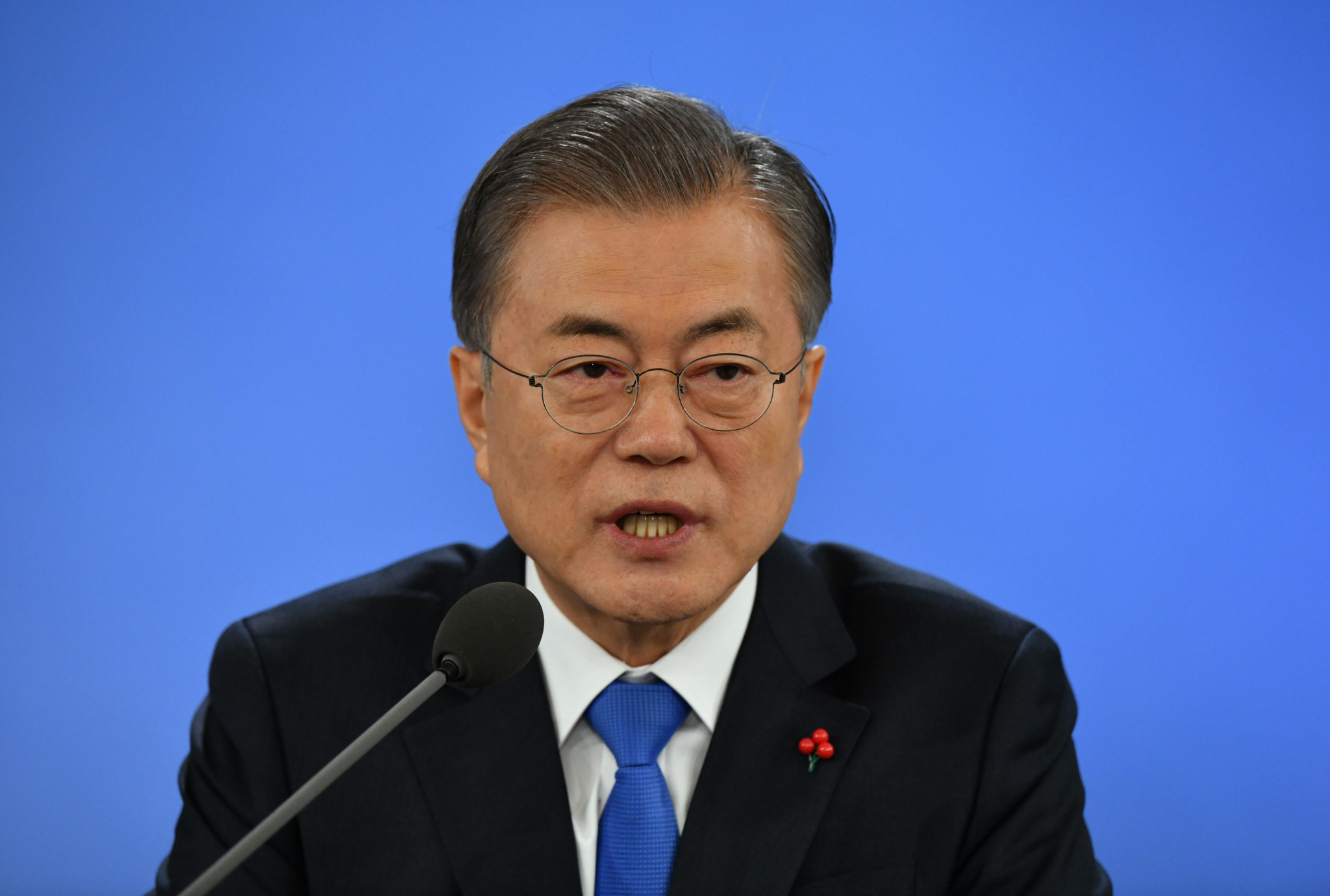 South Korean President Moon Jae-in has voiced his concern over the recent wave of seuxal abuse allegations ©Getty Images