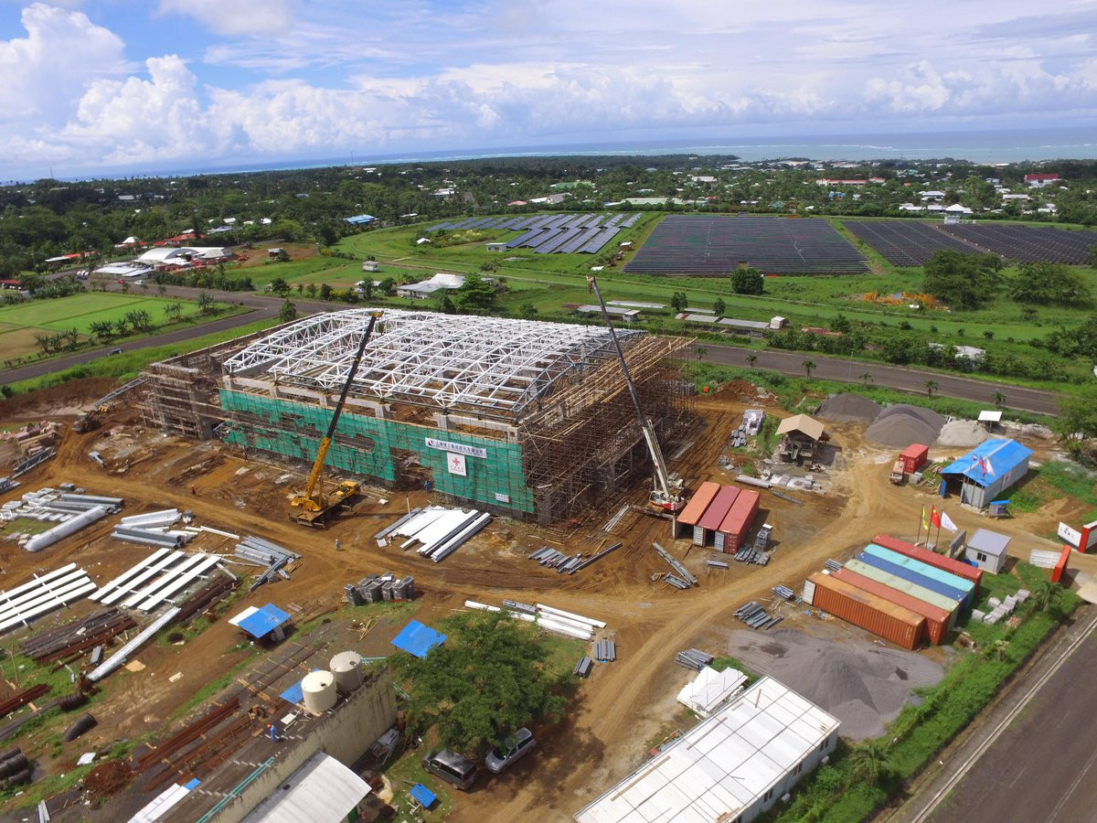 Construction well underway on Samoa 2019 multi-sports complex