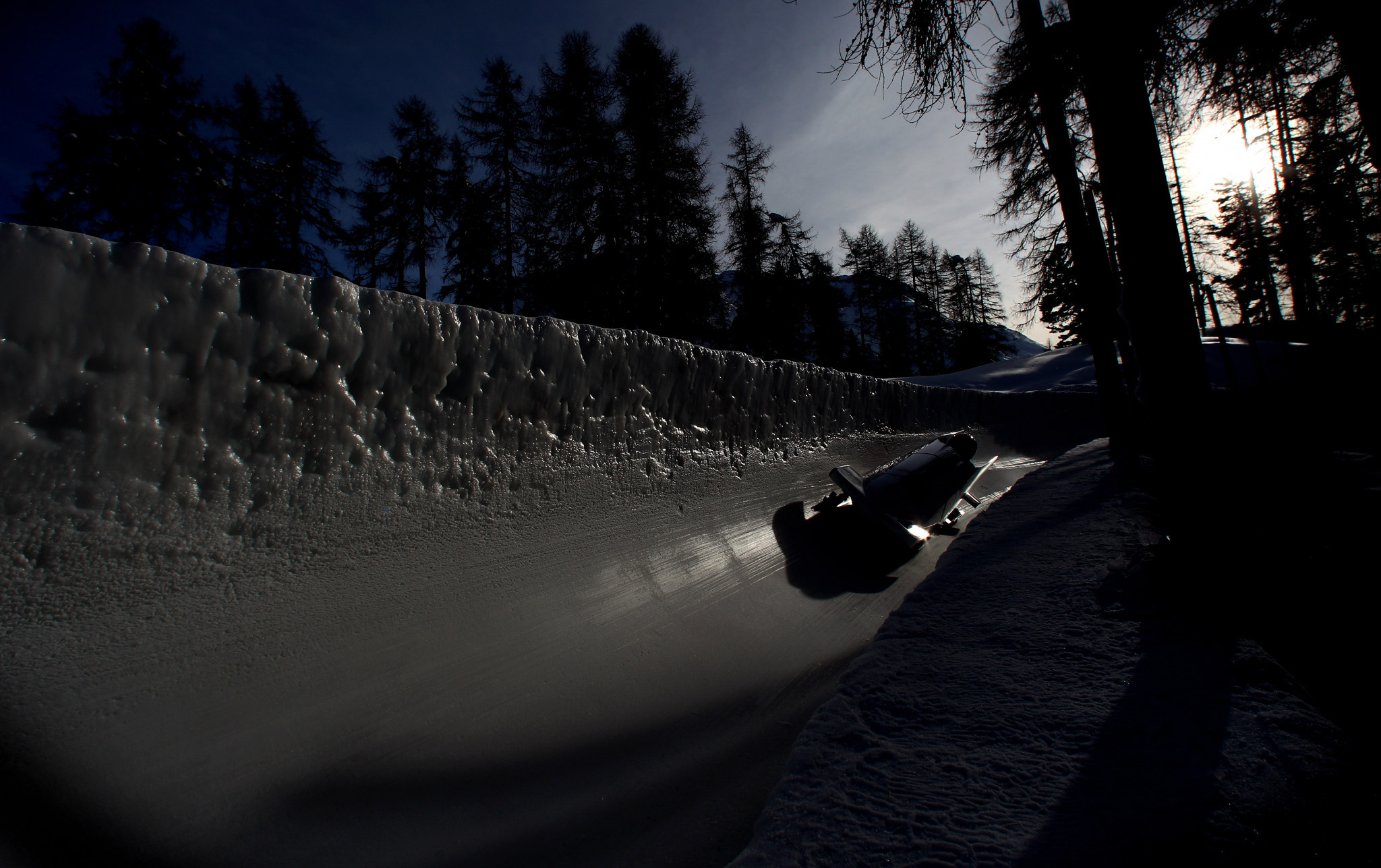 St Moritz's iconic natural ice track will host the last event of the season ©Getty Images
