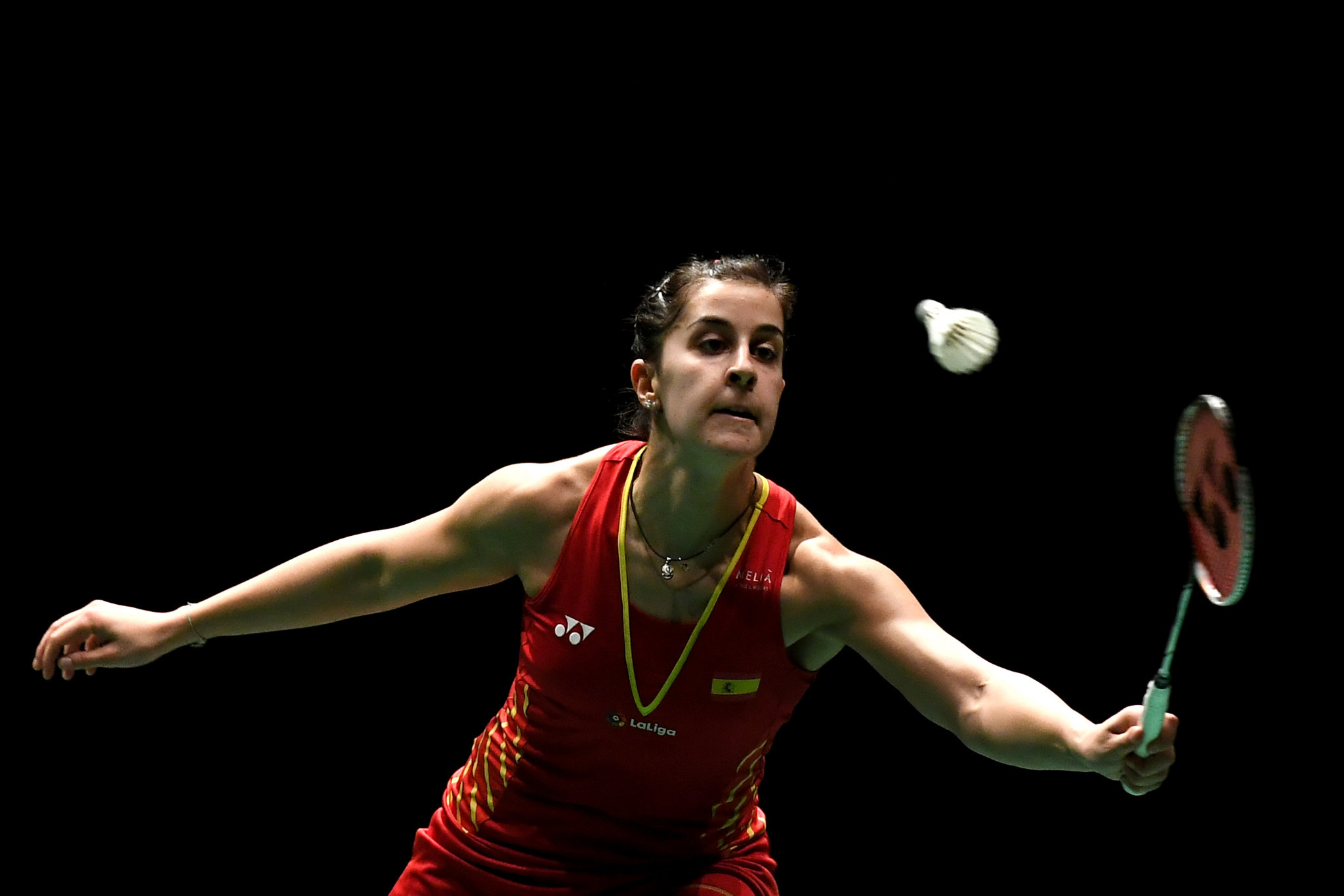 Spain's Olympic and world Carolina Marín ensured her passage through to the semi-finals of the women's singles event at the  Indonesia Masters in Jakarta with victory over India's P V Sindhu of India ©Getty Images