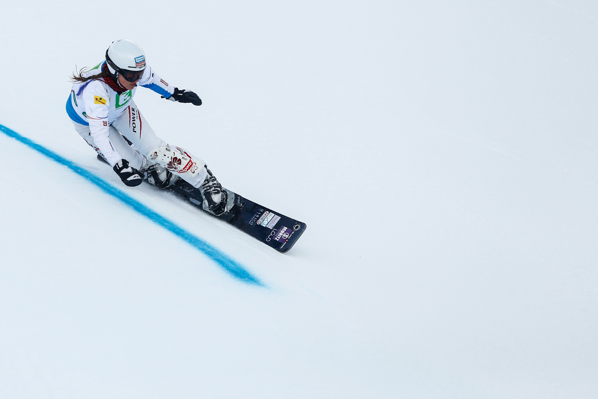 Austria's Claudia Riegler, who this month became the oldest winner of an FIS Snowboard World Cup event at 45-years-old, will compete in Moscow ©Getty Images