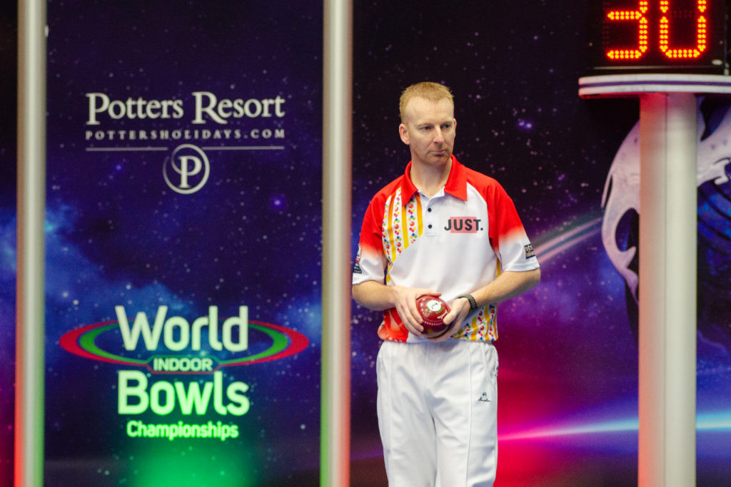 England's Nick Brett is one win away from reaching the men's singles final ©World Bowls Tour