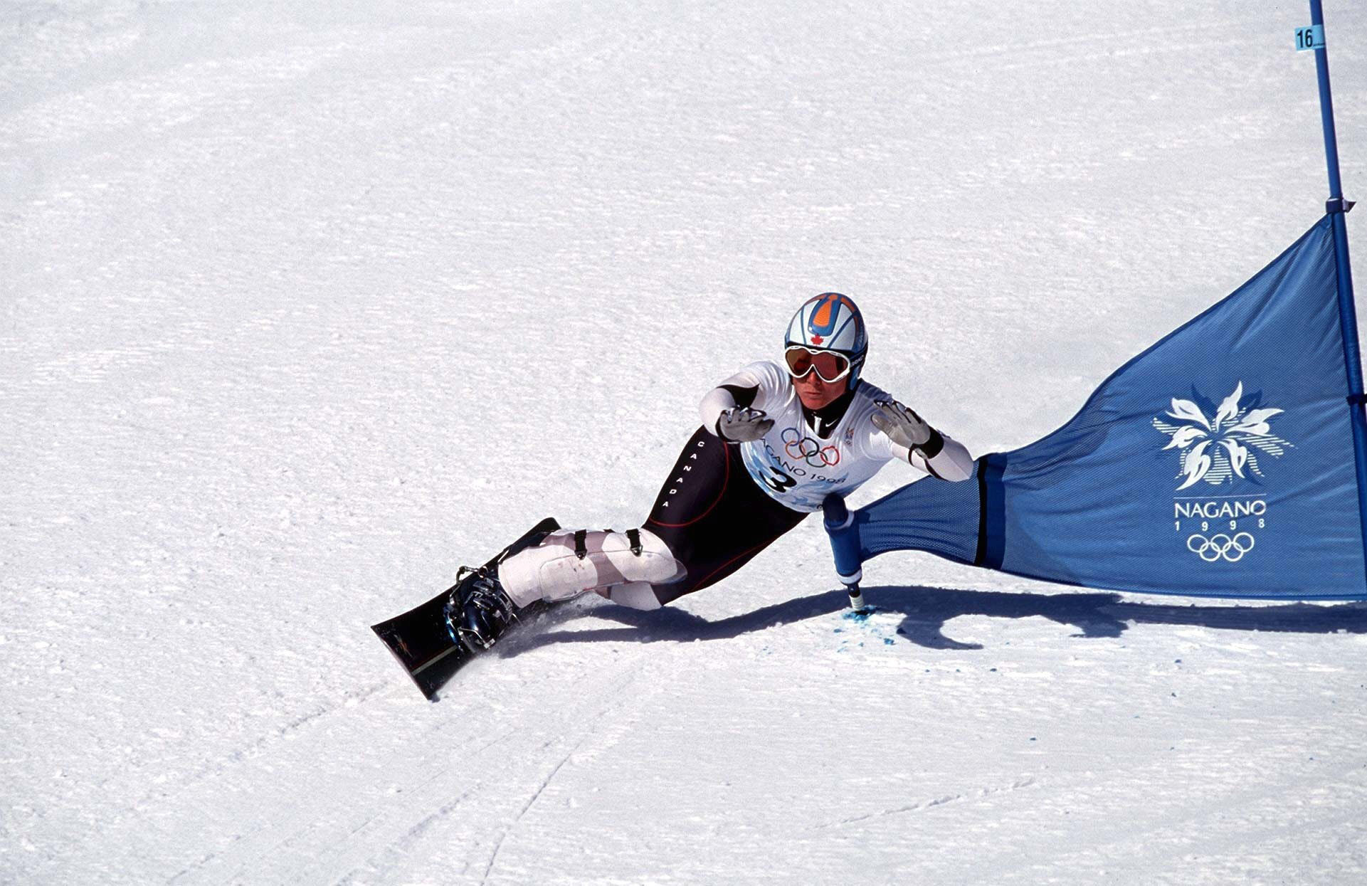 Canada's Ross Rebagliati tested positive for marijuana when snowboarding made its Olympic debut at Nagano in 1998 but was allowed to keep the gold medal because the drug was not banned at the time ©Getty Images