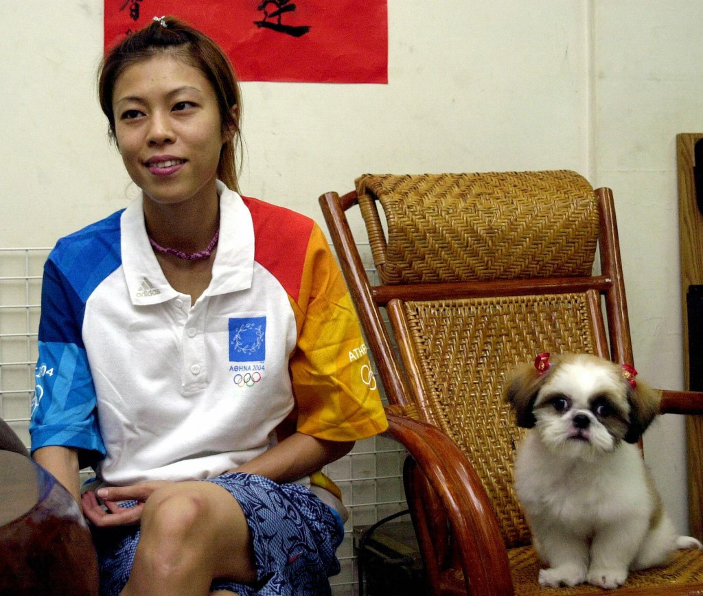 Female taekwondo player Chen Shih-hsin won Taiwan's first ever Olympic gold at Athens 2004 ©Getty Images