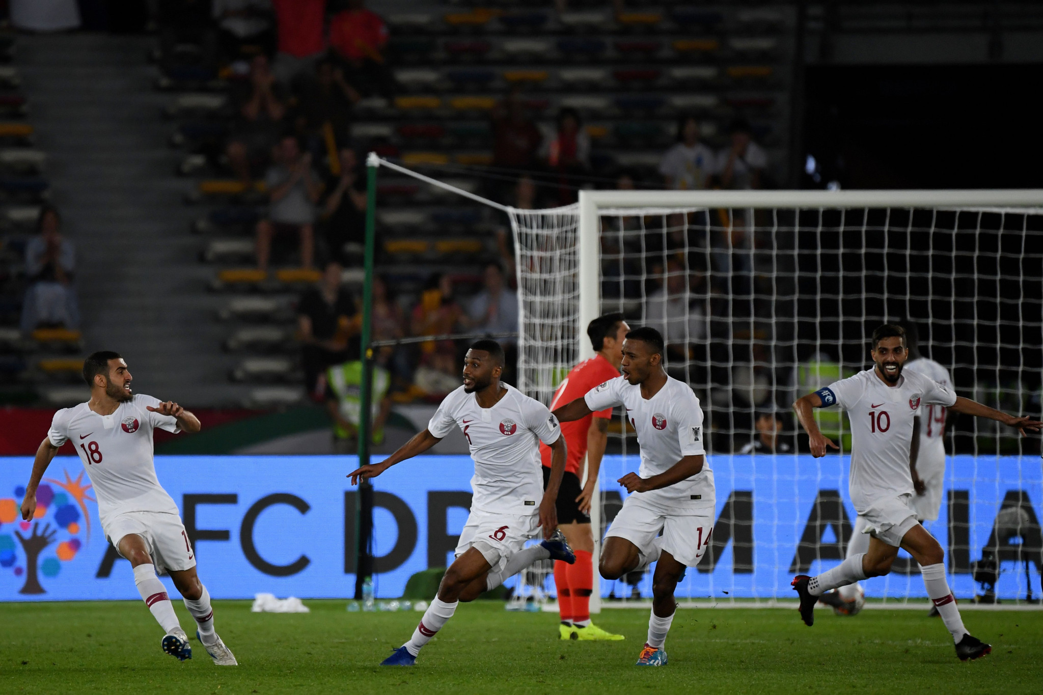 Qatar and United Arab Emirates shock favourites to set up politically charged AFC Asian Cup semi-final