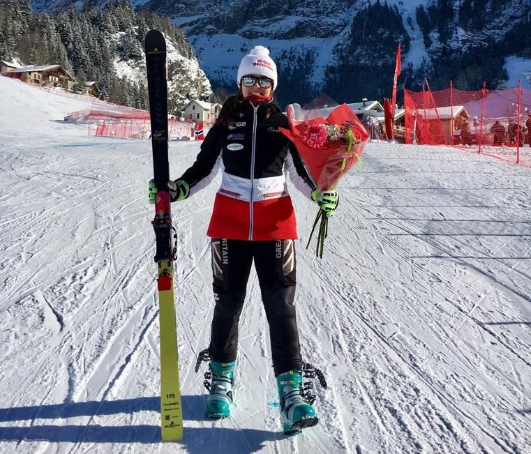 Britain's Taylor takes women's sprint gold medal at FIS Telemark World Cup in Pralognan-la-Vanoise