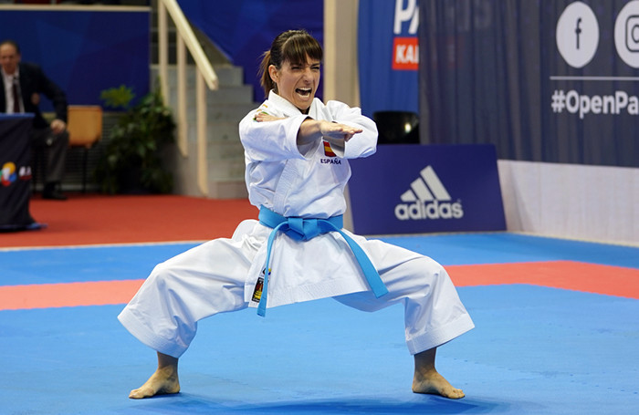 Spain's reigning world kata champion Sandra Sanchez will fight for gold on Sunday against Japan's Kiyou Shimizu at the WKF Karate-1 Premier League in Paris ©World Karate