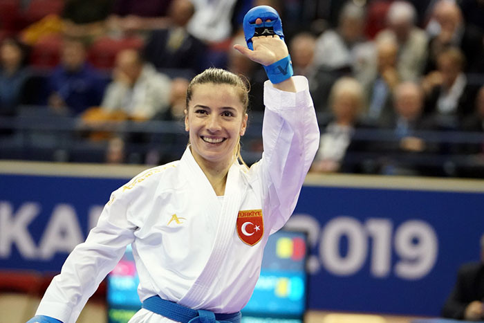 Turkey's Serap Özçelik has made it into the women's kumite under-50kg final where she will have a chance to avenge her 2018 World Championship defeat to Japan's Miho Miyahara ©World Karate