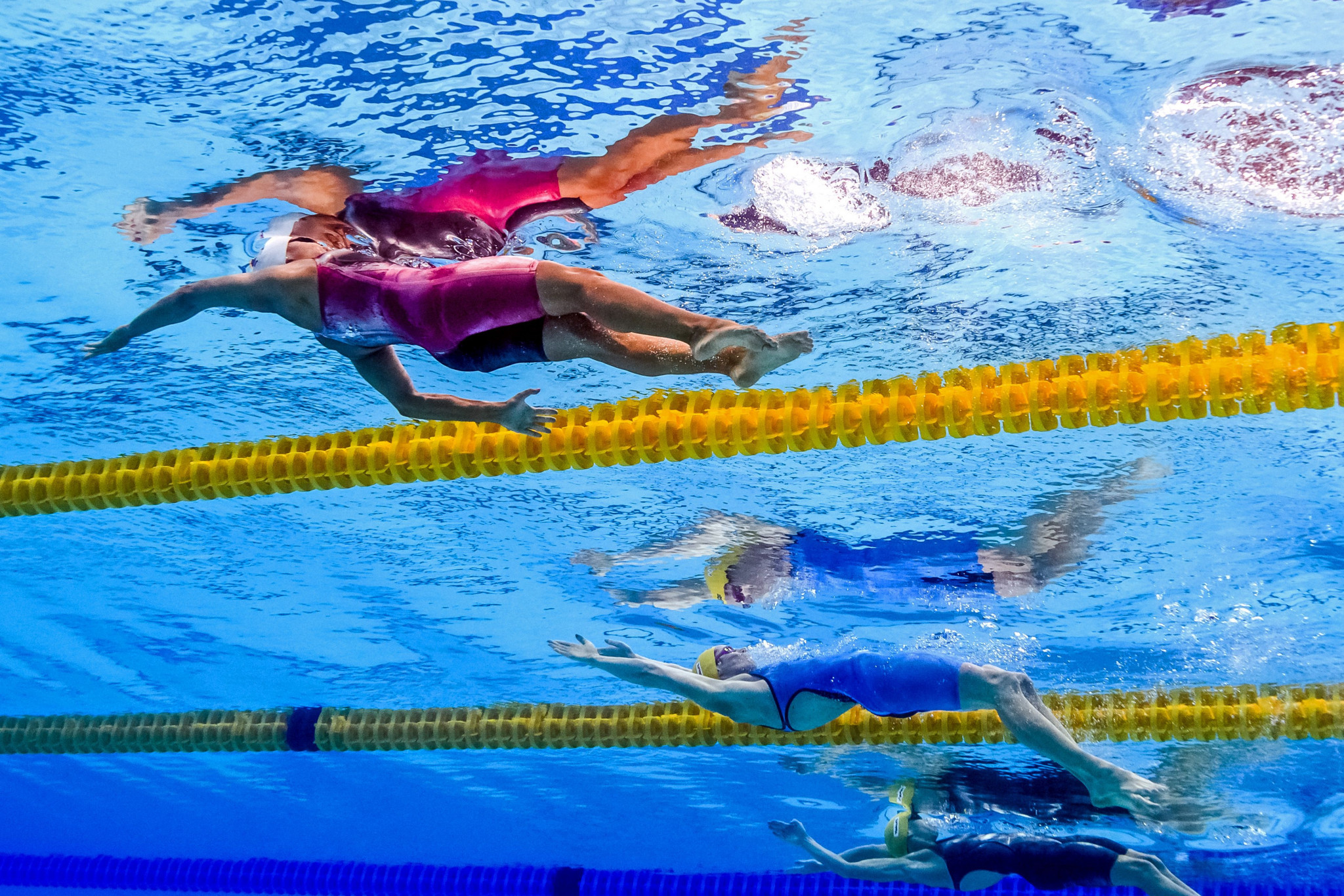 Faroe Islands' swimmers at the 2015 European Games in Baku competed under the European Aquatics flag as their country was not recognised by the International Olympic Committee ©Getty Images