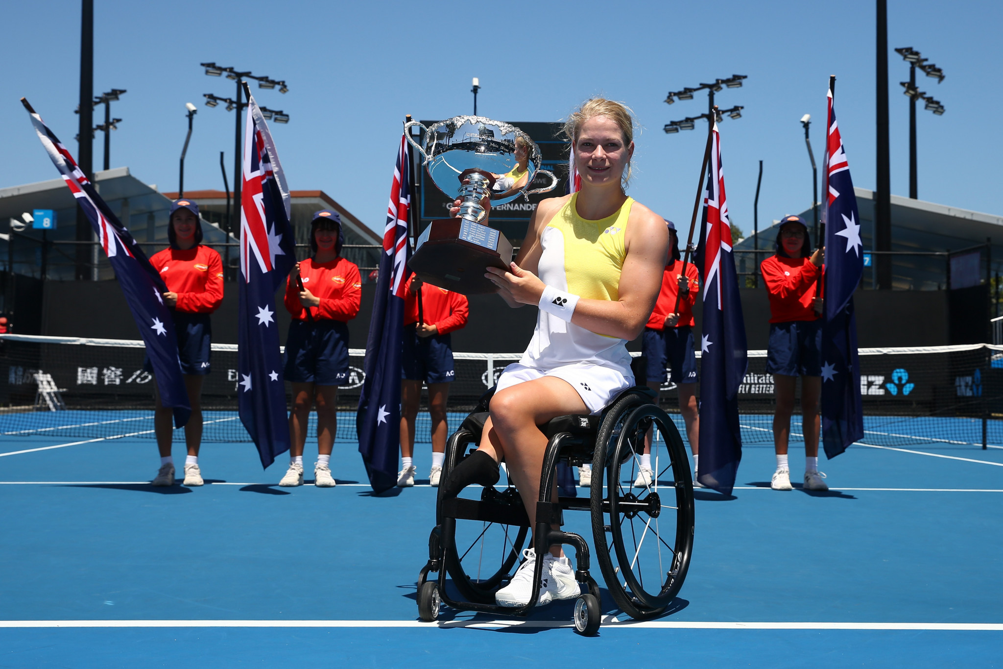 De Groot continues dominance of women's wheelchair tennis with singles and doubles victories at Australian Open