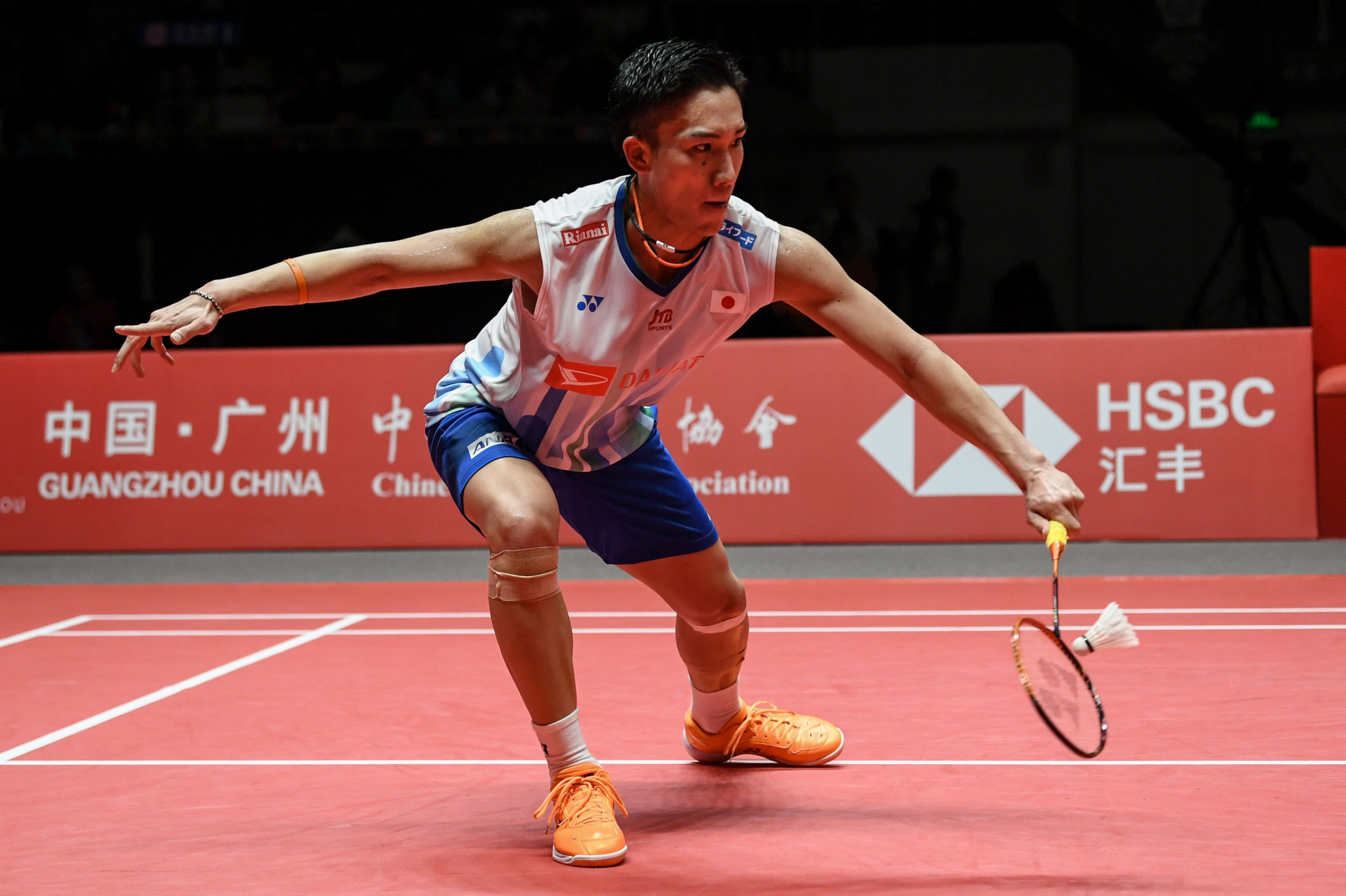 Japan's Kento Momota continued his outstanding record against Denmark's Viktor Axelsen by winning their men's singles semi-final at the Indonesia Masters in Jakarta ©Getty Images