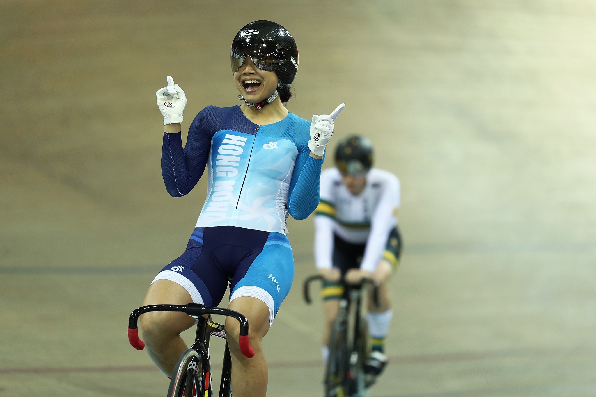 Home favourite earns sprint victory at UCI Track Cycling World Cup in Hong Kong