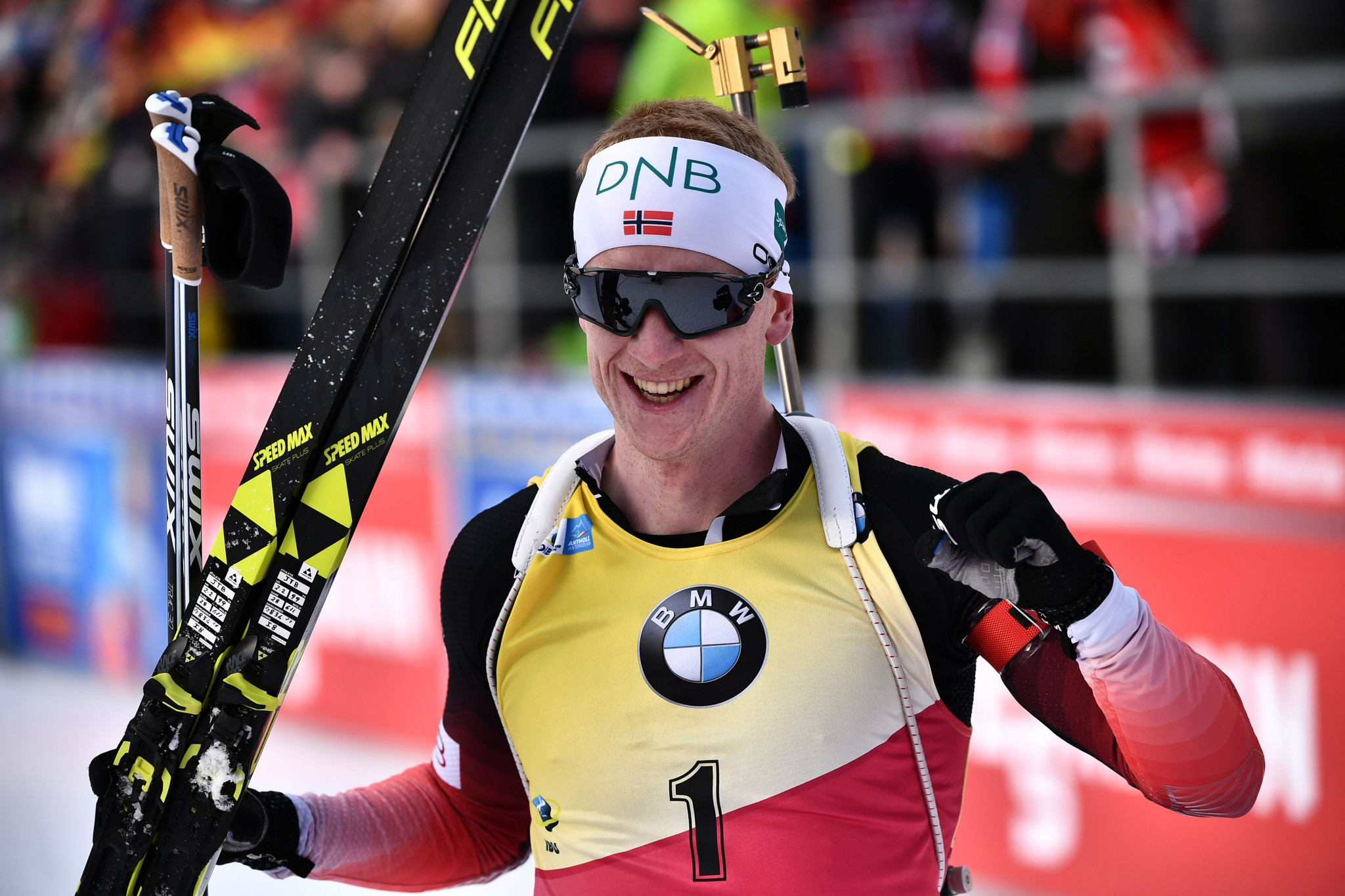Bø collects 11th victory of season with another win at IBU World Cup in Antholz