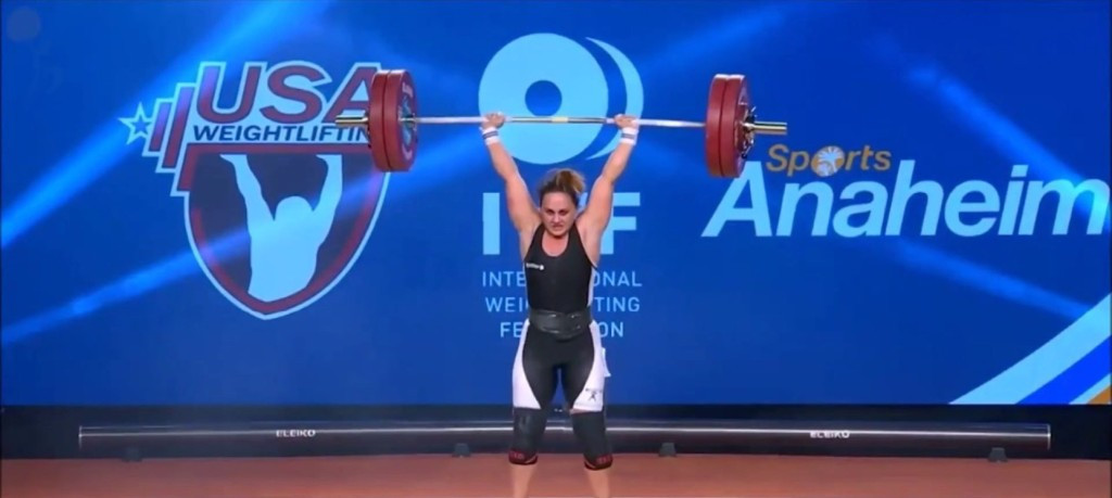 Albania's Romela Begaj has been banned by the IWF for eight-years following a positive drugs test at the 2017 World Championships in Anaheim ©YouTube