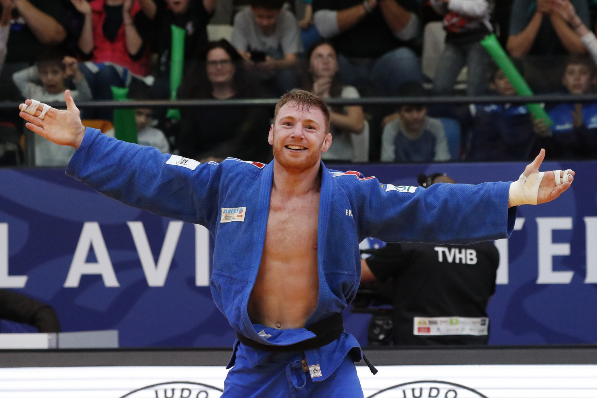 Axel Clerget claimed one of France's two golds today at the IJF Tel Aviv Grand Prix ©Getty Images