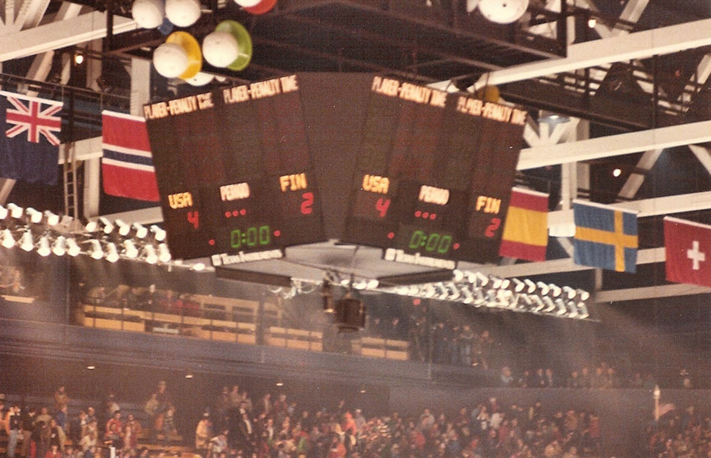 """The scoreboard that recorded the United States' famous victory over the Soviet Union in the """"Miracle on Ice"""" at the 1980 Winter Olympics in Lake Placid is to be housed in the new US Olympic Museum in Colorado Springs ©Twitter"""