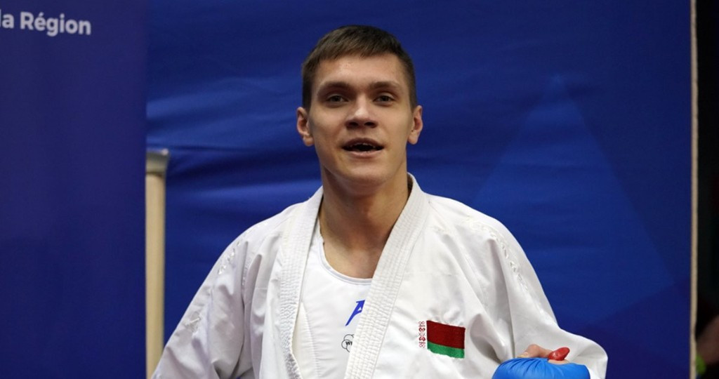 Anton Isakau from Belarus has advanced into the men's kumite under 84kg final against the odds at the Karate-1 Premier League in Paris ©World Karate