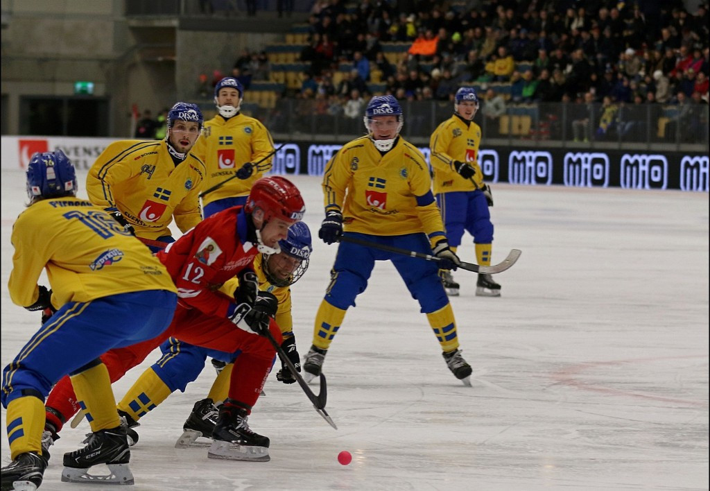Sweden defeated Russia in the opening game of the Bandy World Championships ©2019 Bandy World Championships