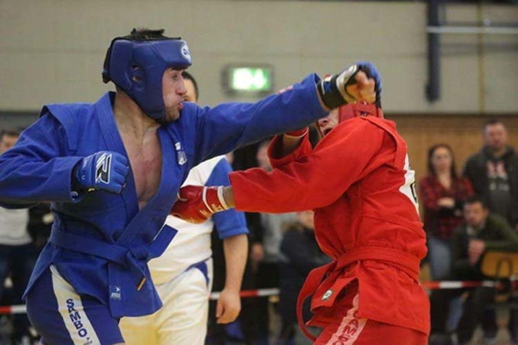 More than 100 athletes took part in the recent German National Sambo Championships ©FIAS