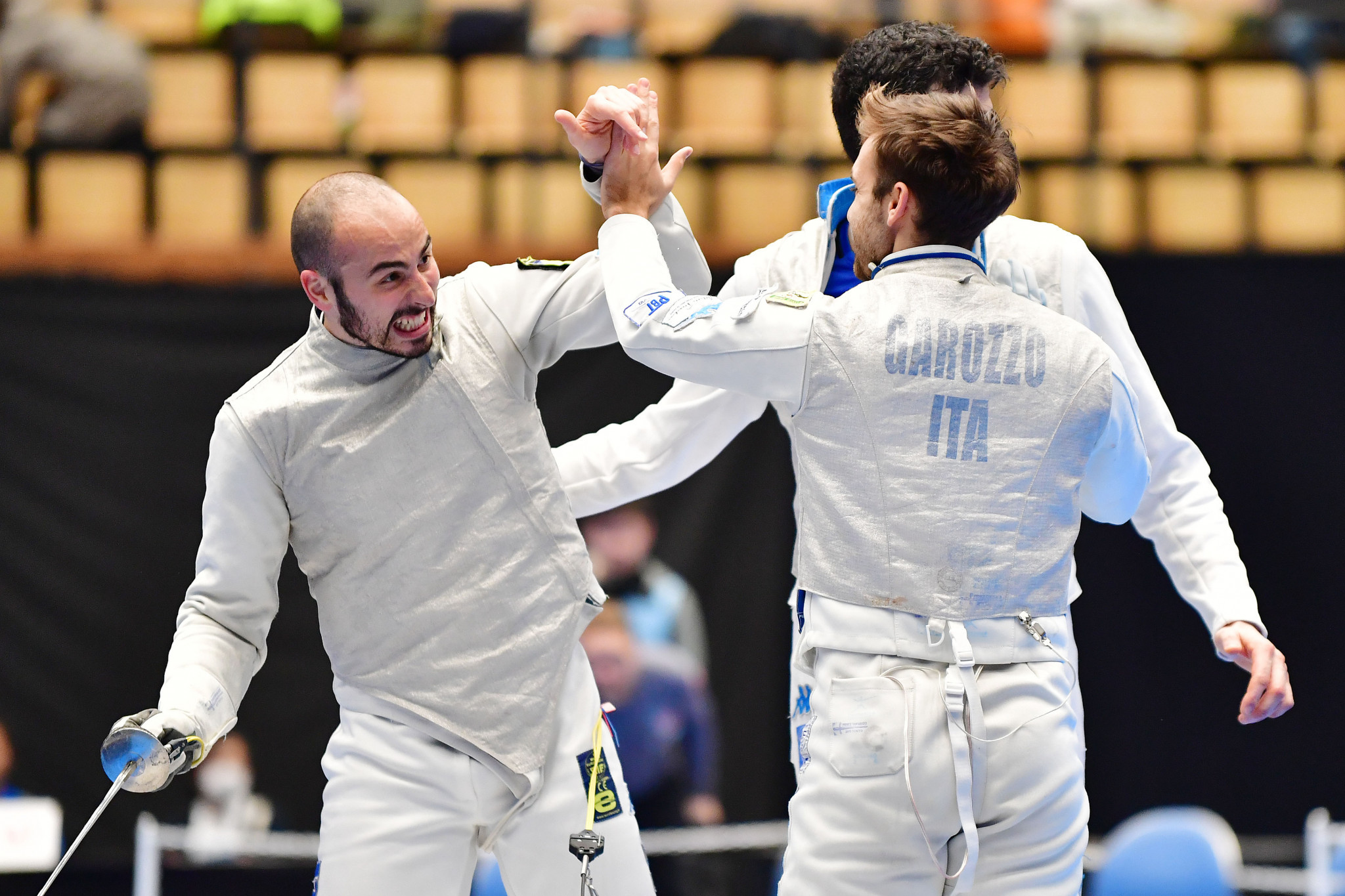 Italy claim men's team title as France win women's at FIE Foil World Cups
