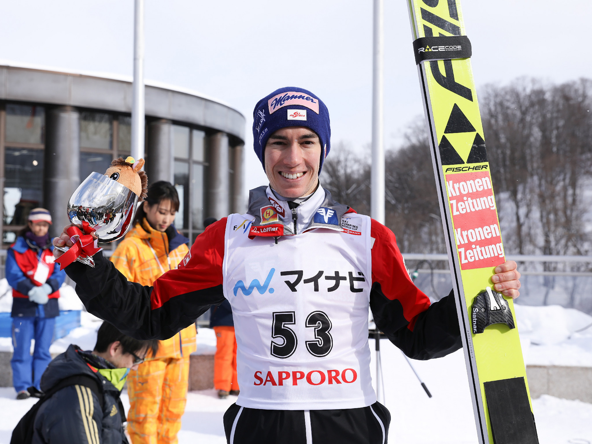 Kraft wins third Ski Jumping World Cup title in a row in Sapporo