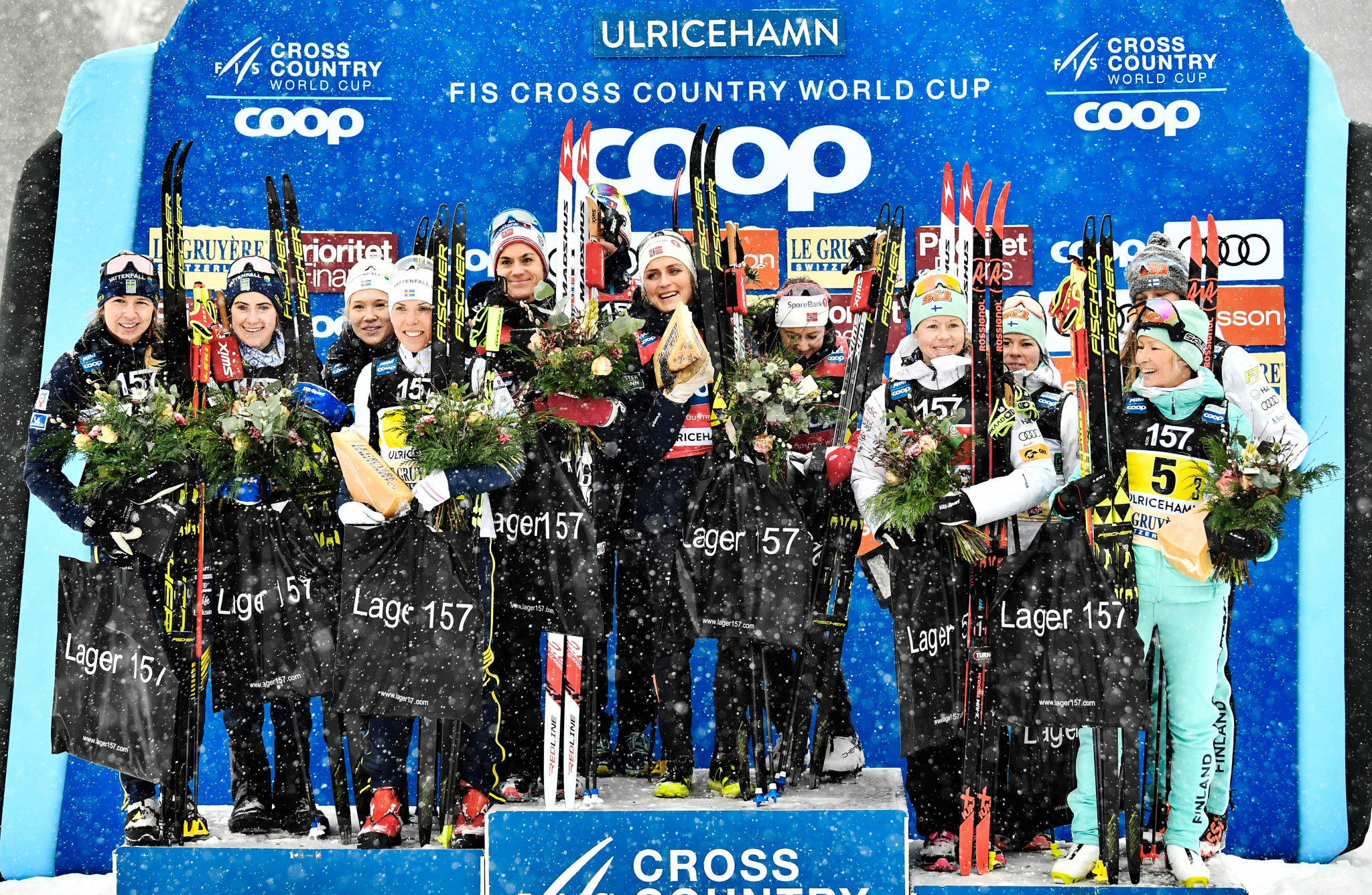Norway win women's relay as Russia claim men's title at FIS Cross Country World Cup in Ulricenhamn