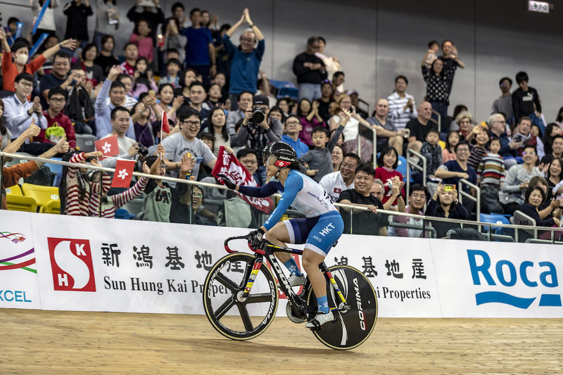 Hong Kong's Lee Wai Sze got her second UCI Track Cycling World Cup gold in Hong Kong ©UCI