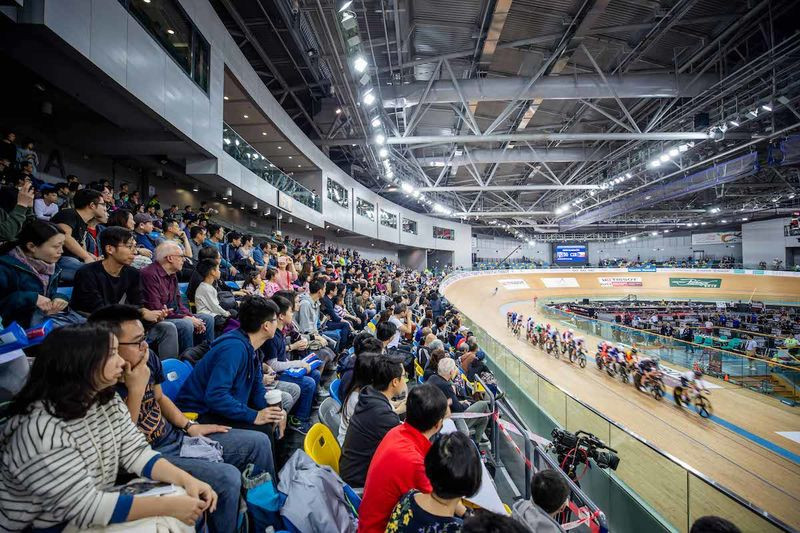 The action at the Hong Kong Velodrome concluded the UCI Track Cycling World Cup season ©UCI