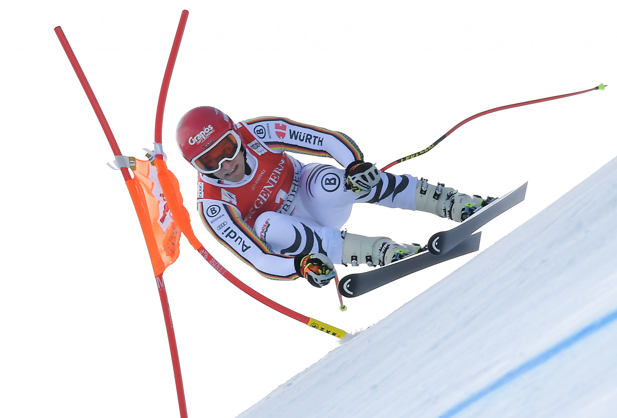 Josef Ferstl won the men's super-G in Kitzbuehel to claim only his second World Cup podium ©Getty Images