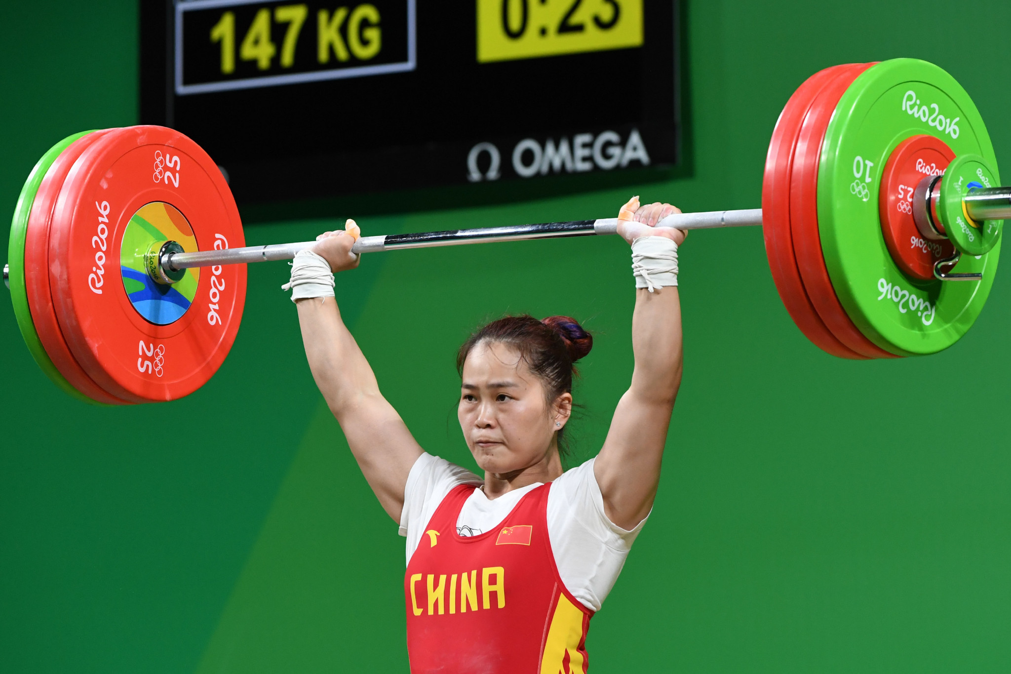 Performances from the likes of Deng Wei have been among weightlifting's plus points ©Getty Images