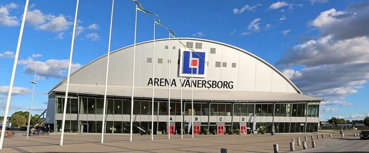 Matches are being played at the Arena Vänersborg ©FIB