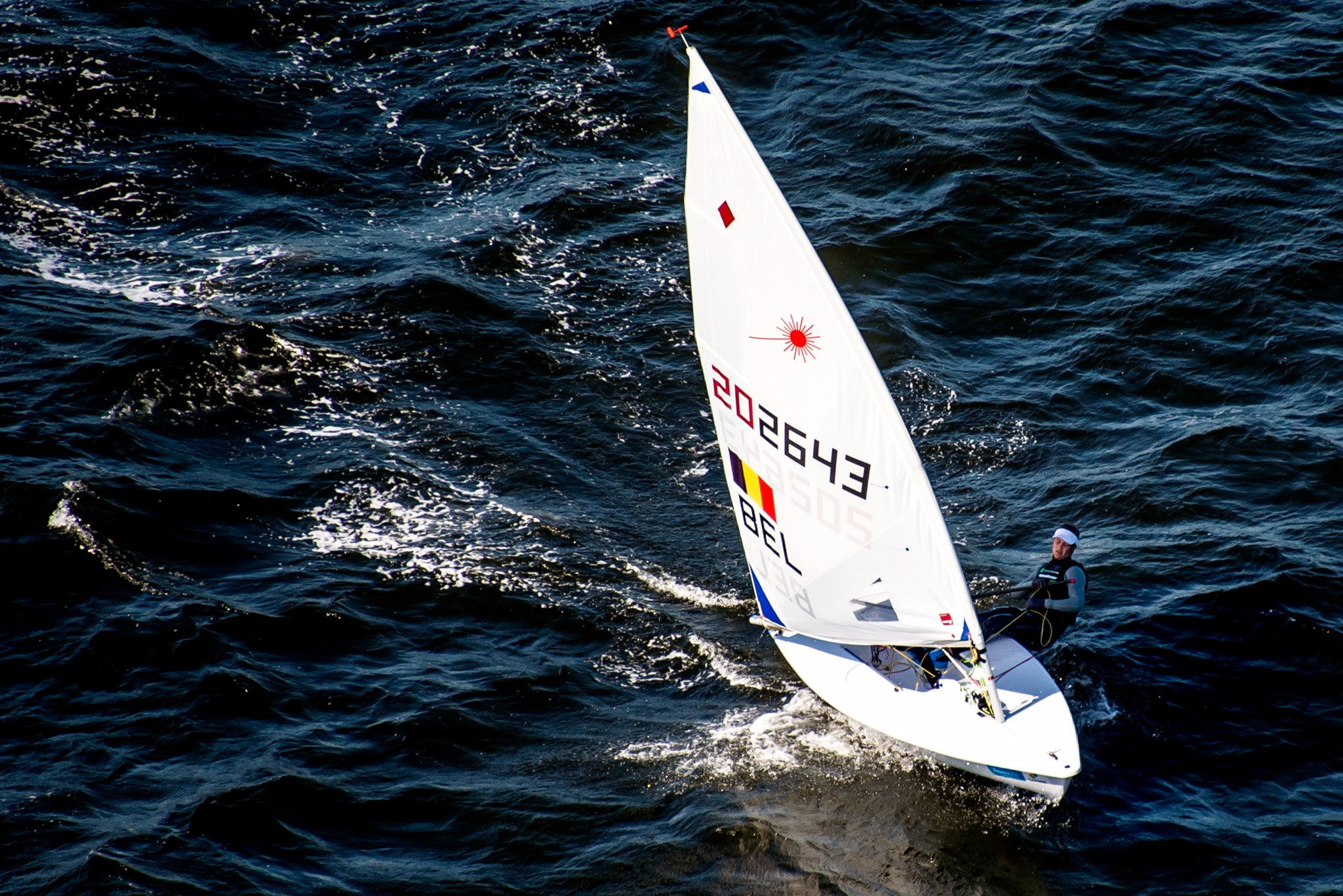 World champion Emma Plasschaert will go for gold in the laser radial fleet ©Getty Images