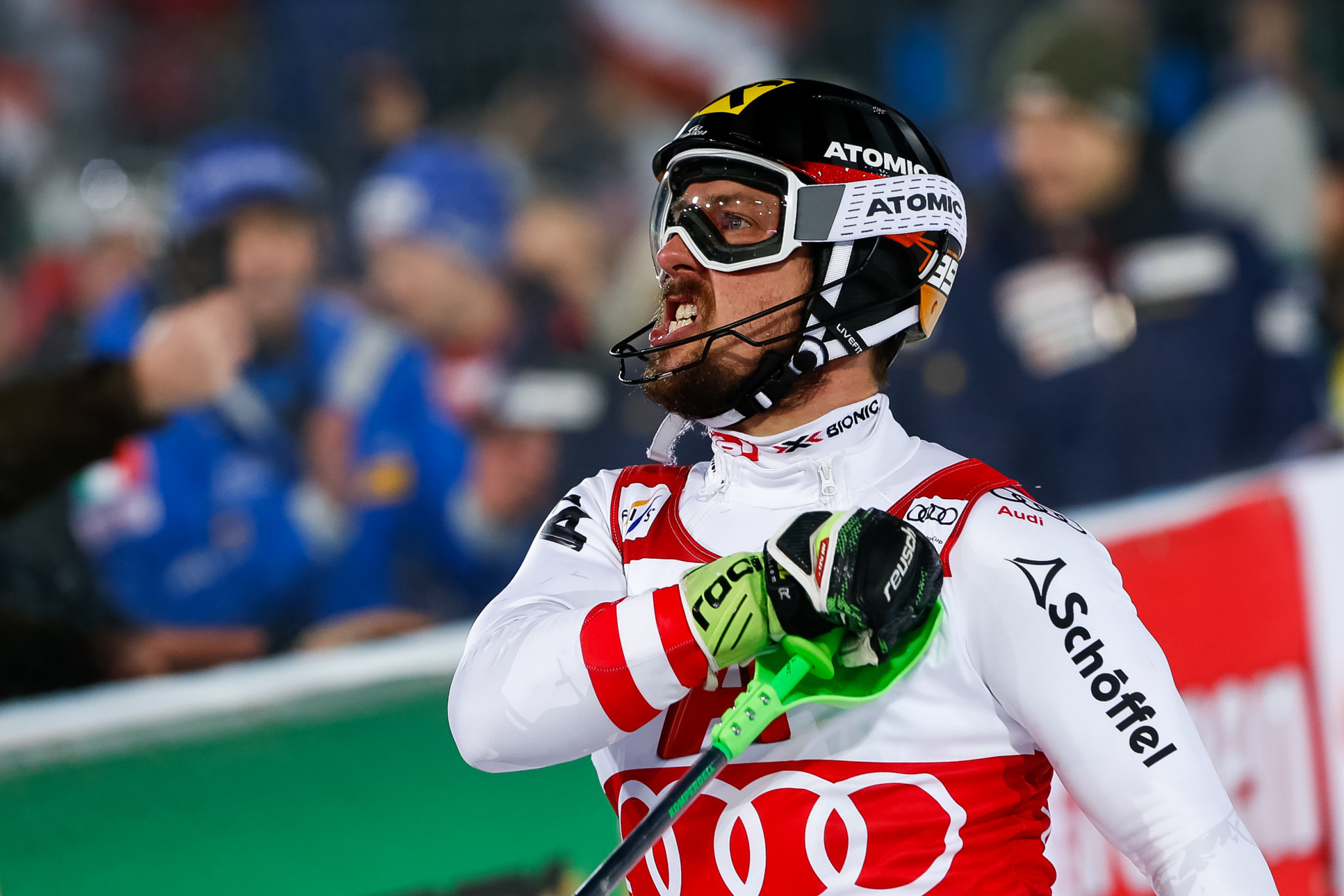 Hirscher going for gold again at famous Schladming night race