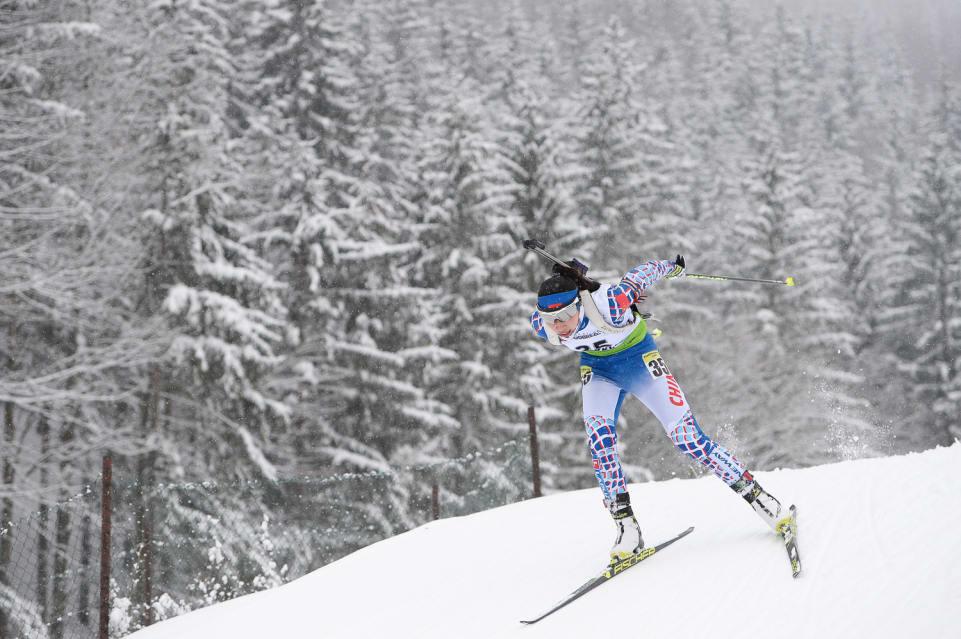 China's Fanqi Meng dominated the women's 12.5km individual race today ©IBU