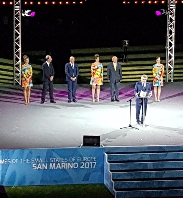 International Olympic Committee President Thomas Bach opened the 2017 Games in San Marino ©IOC