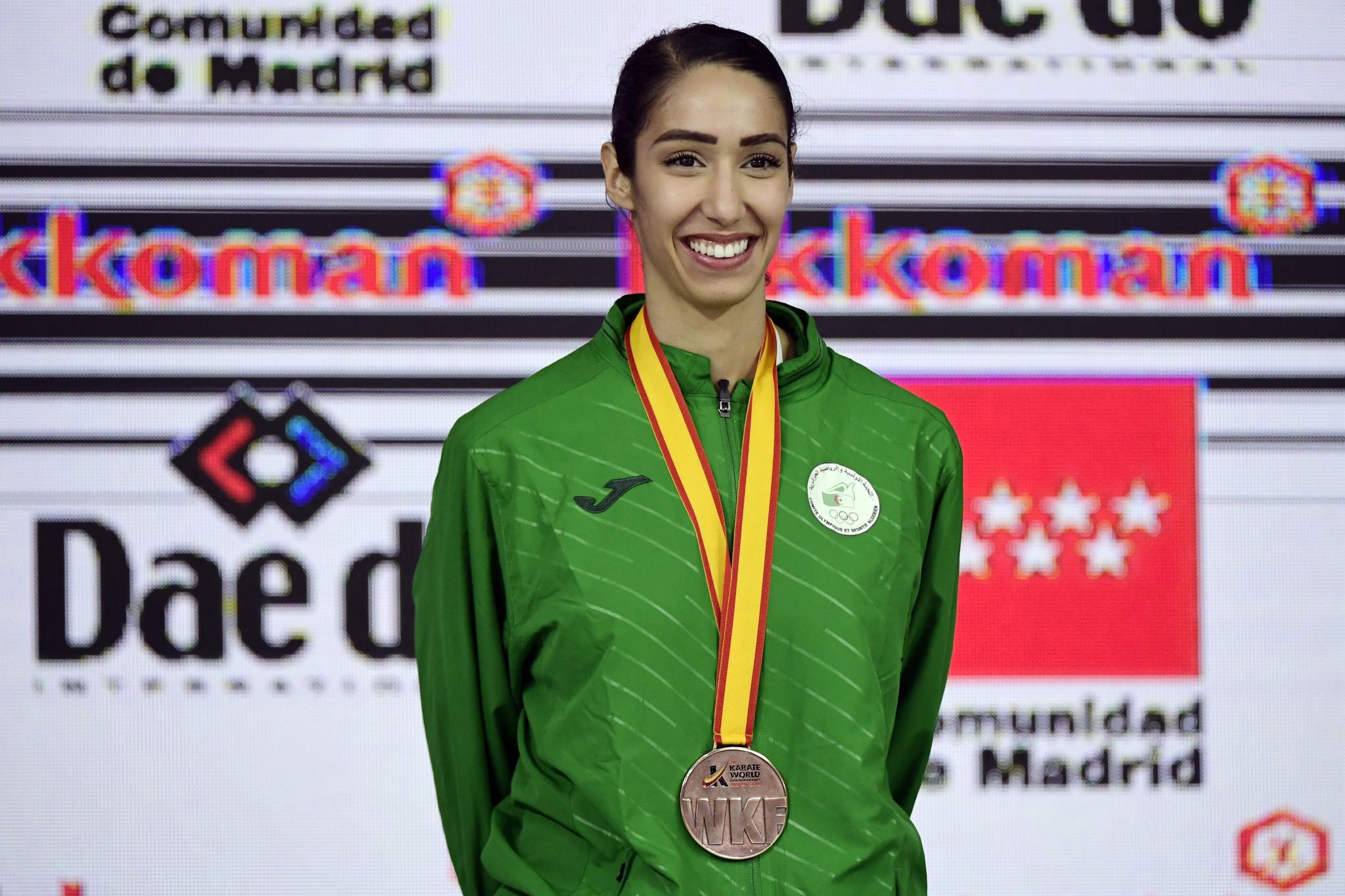 World Championship bronze medallist  Lamya Matoub won the women's award ©Getty Images
