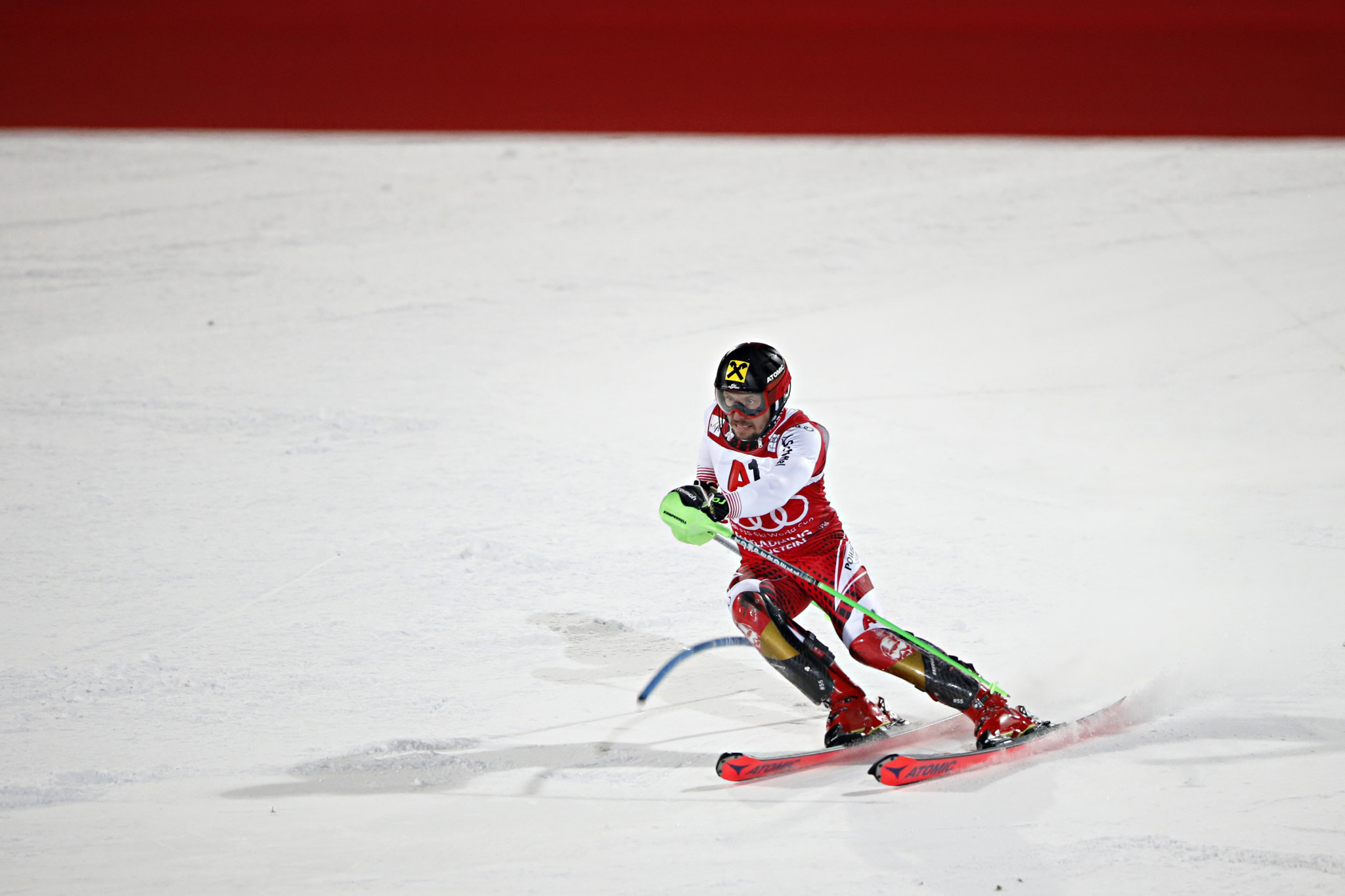 Hirscher records dominant Alpine Skiing World Cup victory at Schladming night slalom