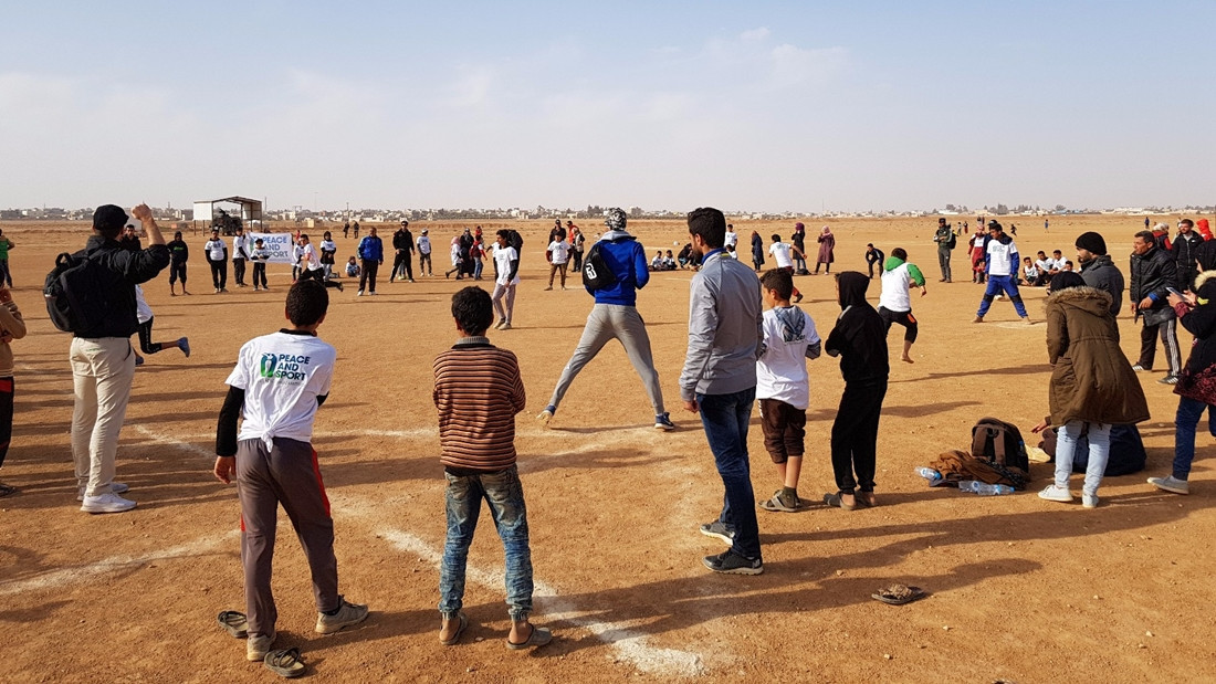 WBSC introduce Baseball5 to Zaatari Refugee Camp in Jordan