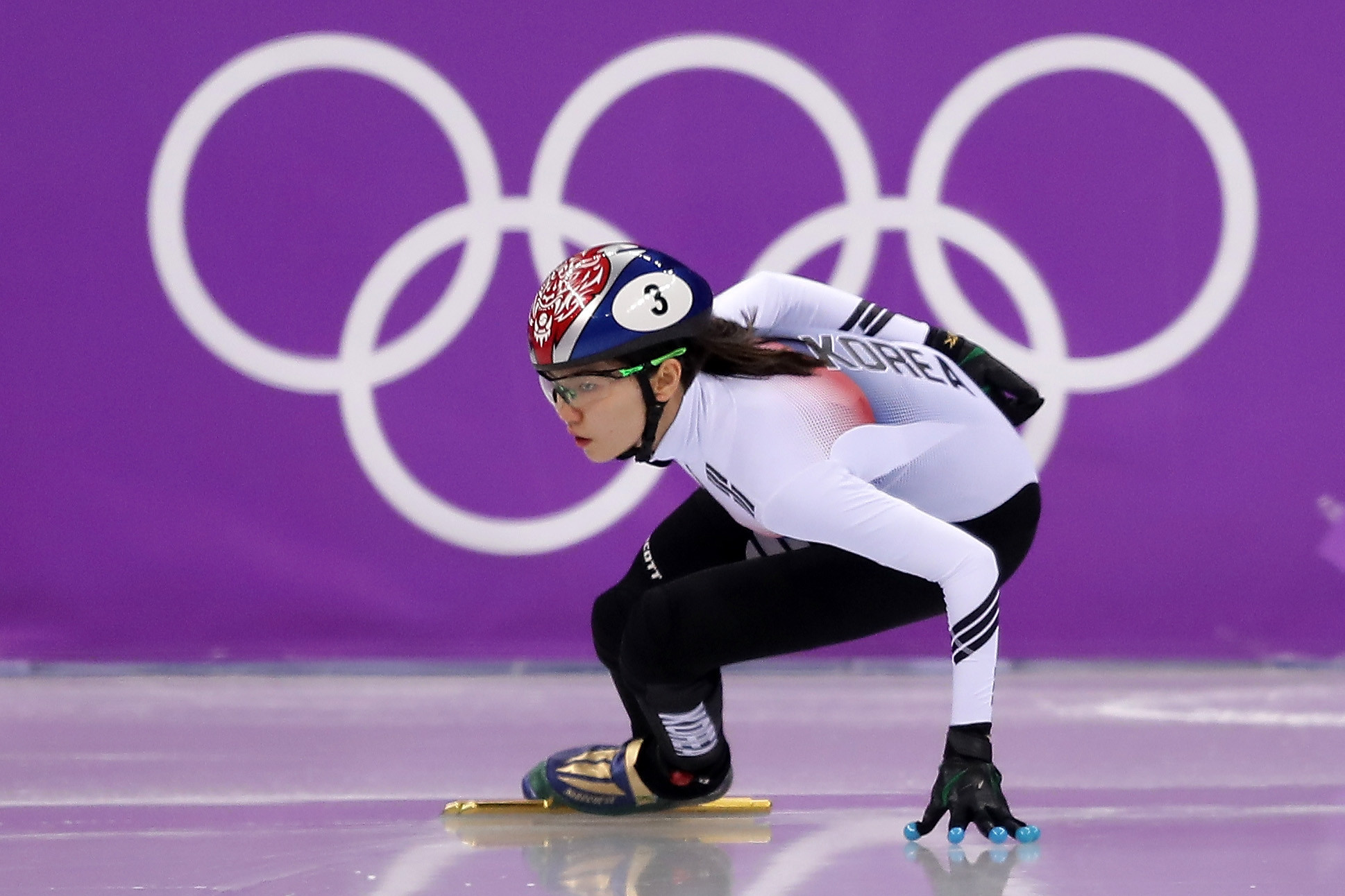 South Korea's Shim Suk-hee, who has accused former coach Cho Jae-beom of sexually and physically assaulting her, is Olympic champion in the 3,000m relay short track speed skating event ©Getty Images