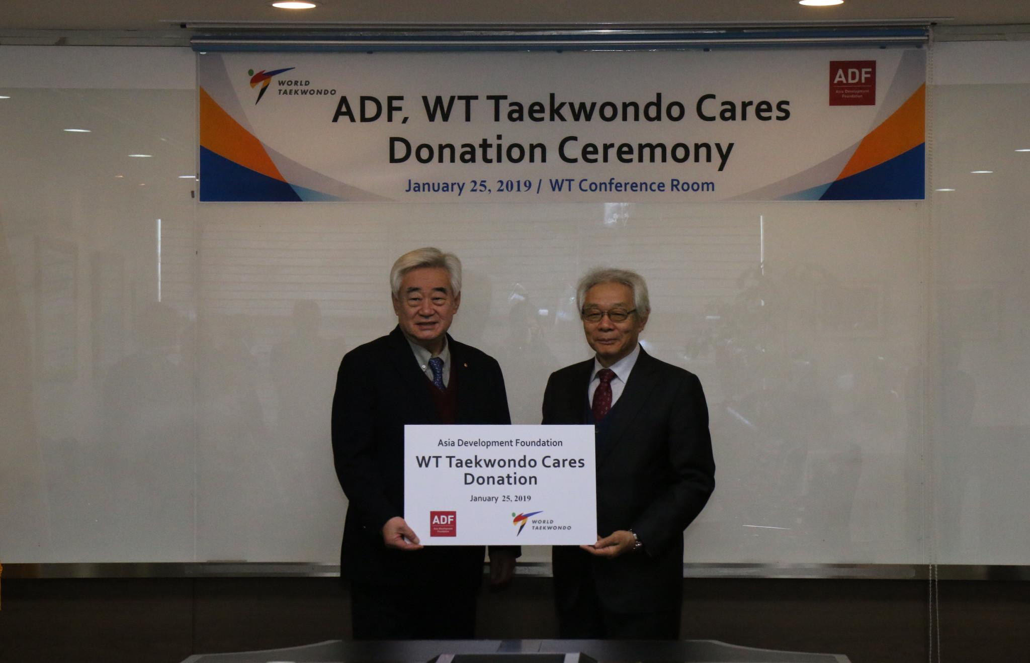 World Taekwondo receive $90,000 donation from Asia Development Foundation