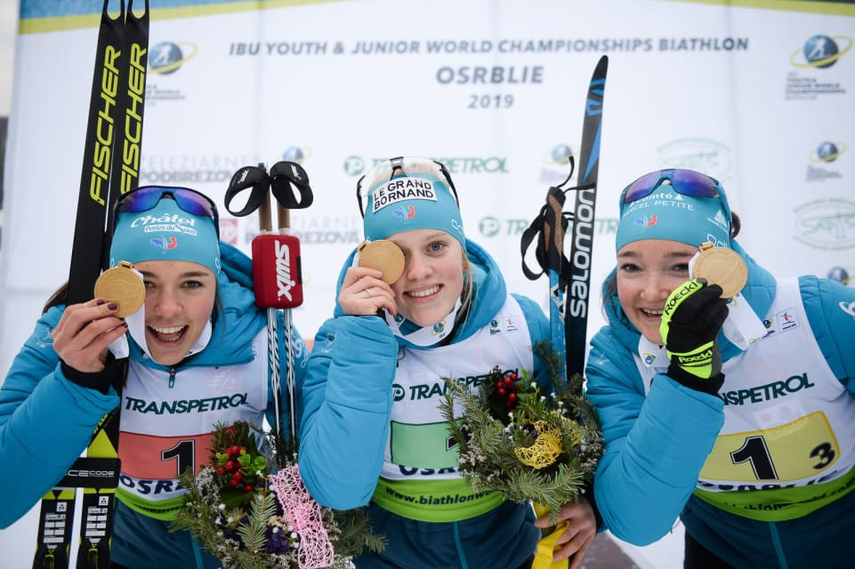 France produced a near-flawless performance to win the junior women's relay ©IBU