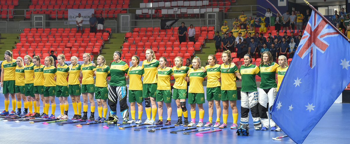 The Australian floorball team have qualified for the Women's World Floorball Championships ©IFF