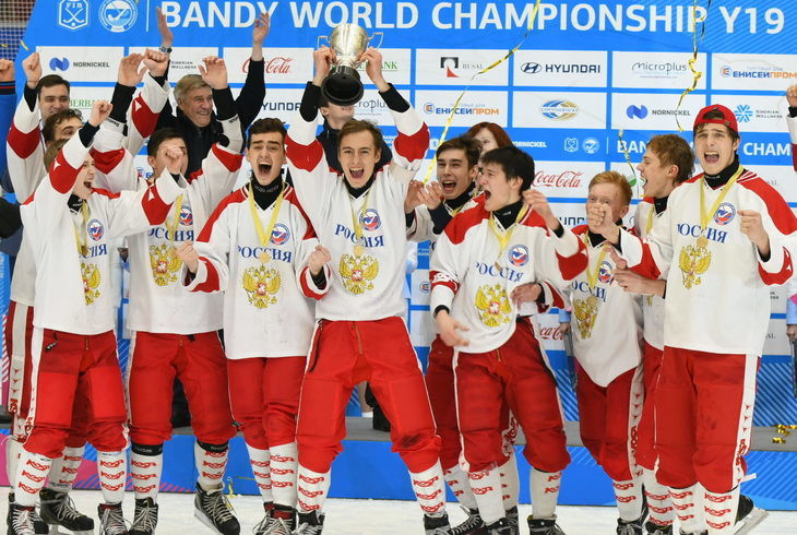 Hosts Russia won the Under-19 Men's Bandy World Championships in Krasnoyarsk ©Krasnoyarsk 2019