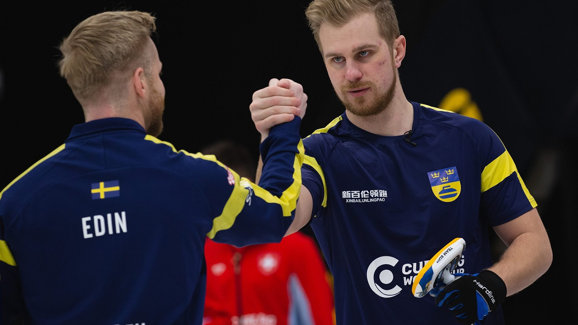 Niklas Edin's Swedish team are the reigning men's European champions ©WCF