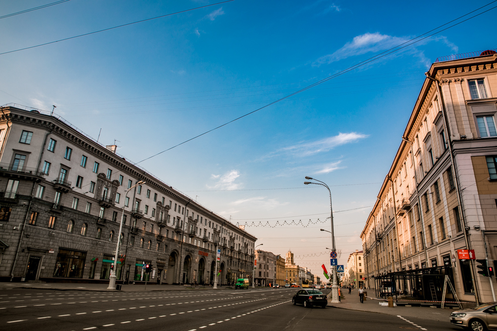 Independence Avenue is the main street of Minsk ©Minsk 2019