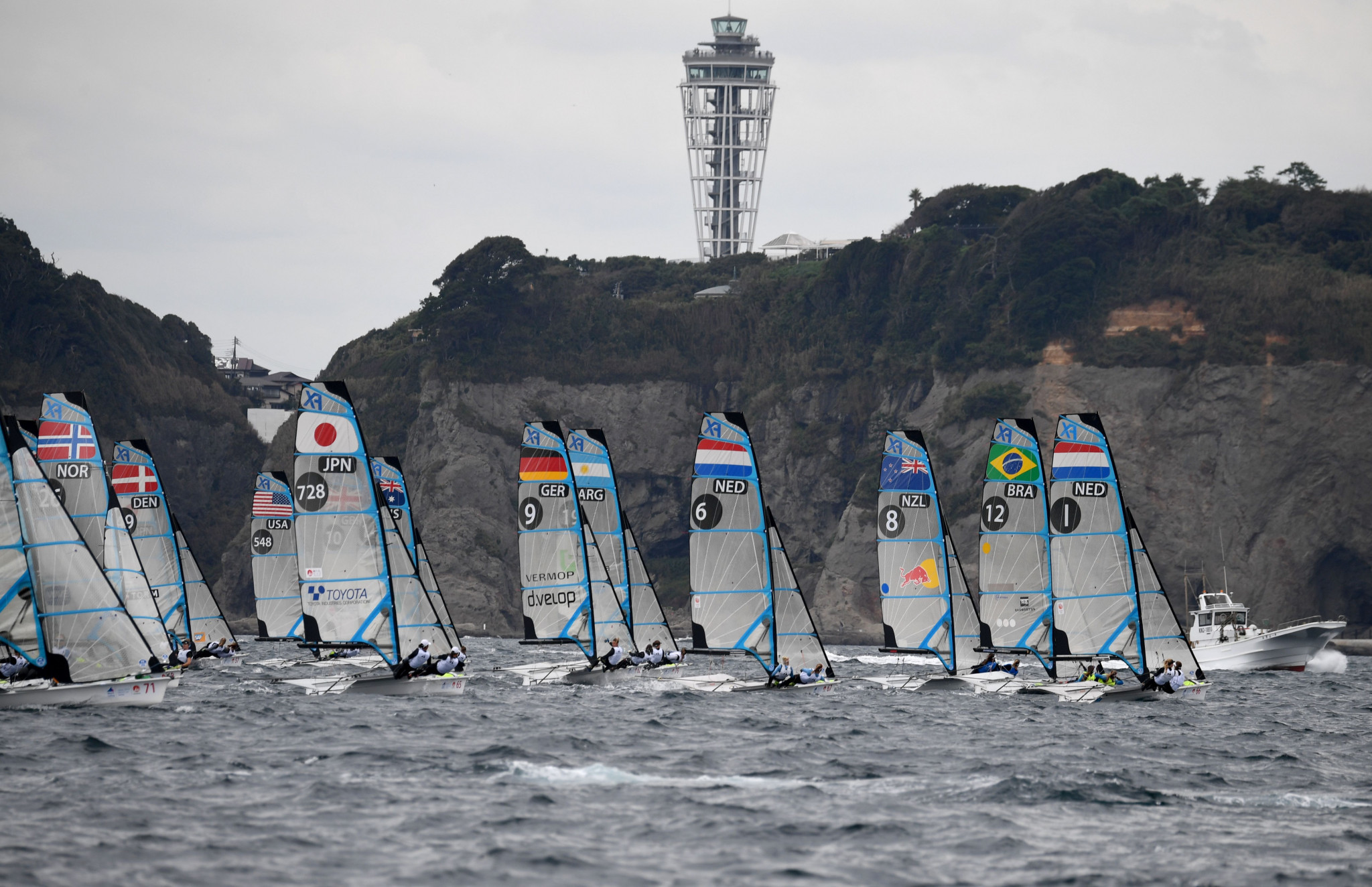 Tokyo 2020 organisers have reduced the crowd size for the sailing event off Enoshima island ©Getty Images