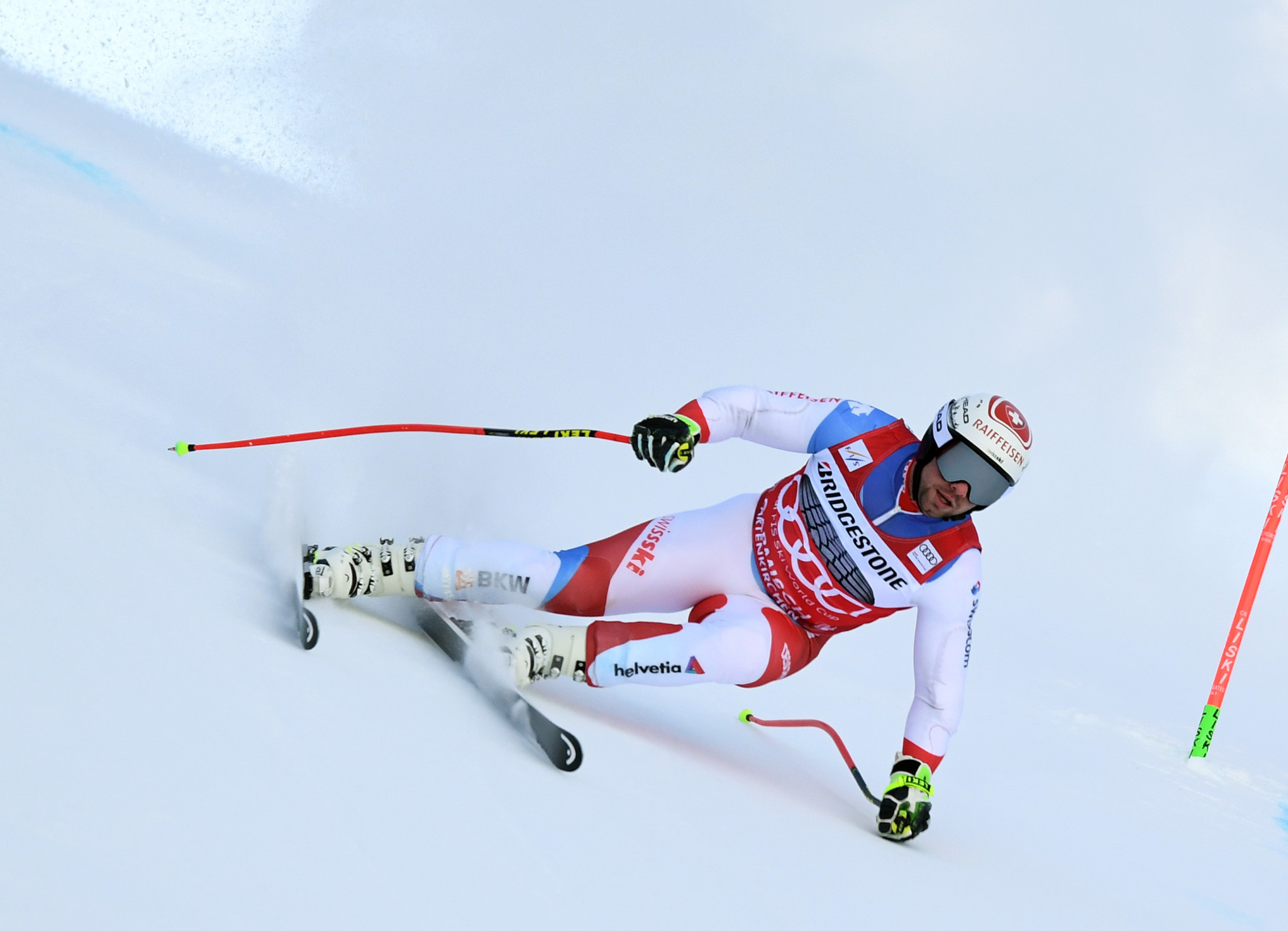 Beat Feuz tops the men's downhill standings but was beaten last time out by Italy's Dominik Paris ©Getty Images